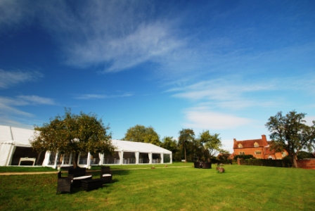 AA sunny marquee and house