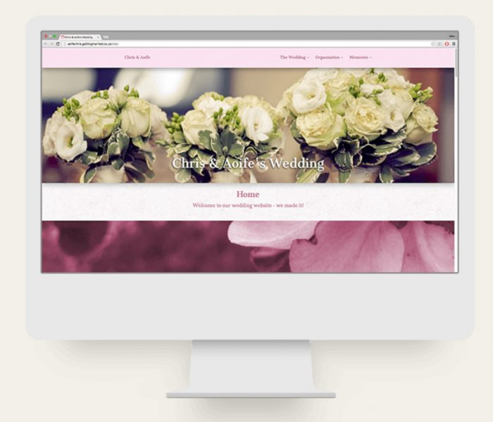 Create your own wedding website (Free)