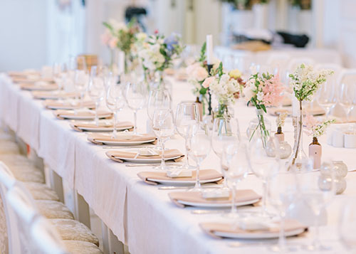 Choosing Table Linen for Your Wedding Breakfast: Key Trends and Colours