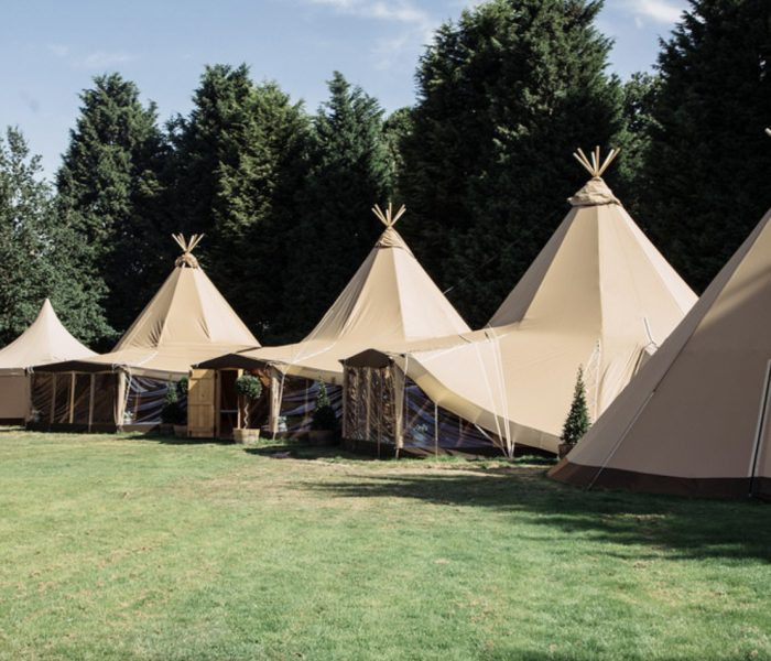 Tipis at The Durham Ox, Shrewley