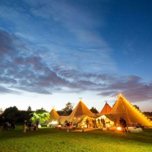 tipi farm wedding